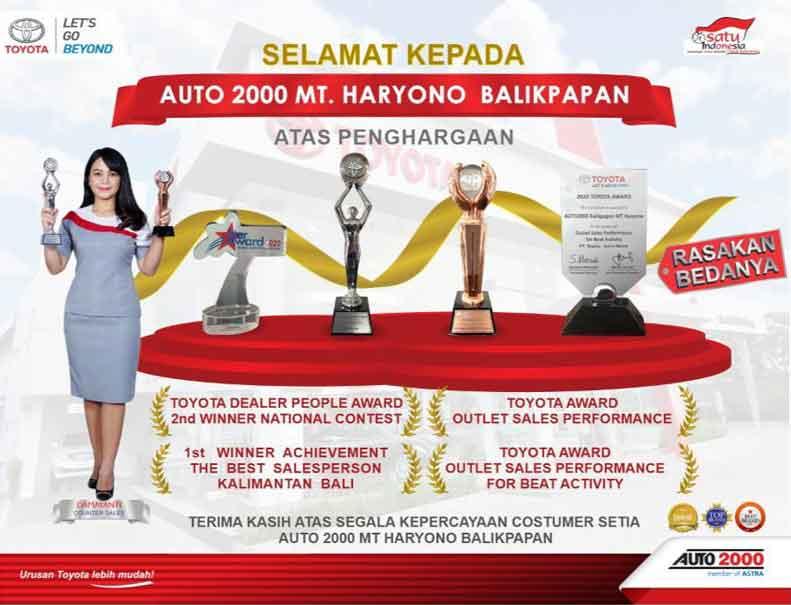 Toyota Auto 2000 MT Haryono Balikpapan Raih 4 Achievement